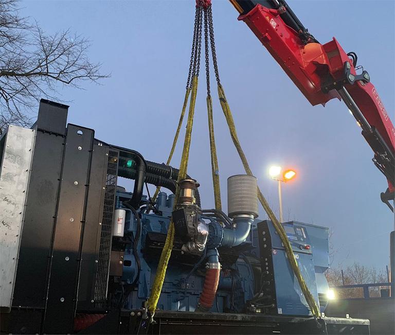 Crane lifting machinery